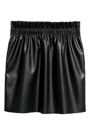 Paper bag skirt - Black -  | H&M GB