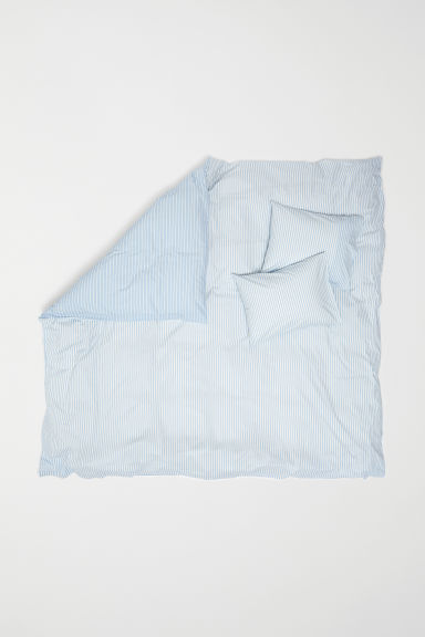 Striped duvet cover set - Light blue/Striped - Home All | H&M CN
