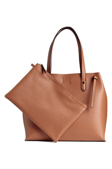 Shopper and clutch - Camel - Ladies | H&M