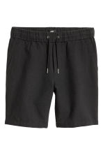 Linen-blend shorts - Black - Men | H&M 2