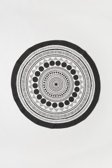 Round cotton tablecloth