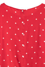 Patterned blouse - Red/Spotted - Ladies | H&M IE 3