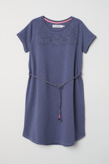 Short-sleeved sweatshirt dress