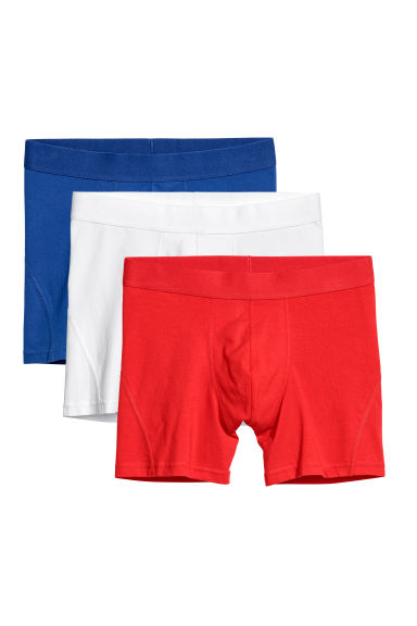 3 boxershorts - Mid trunk - Felrood - HEREN | H&M BE