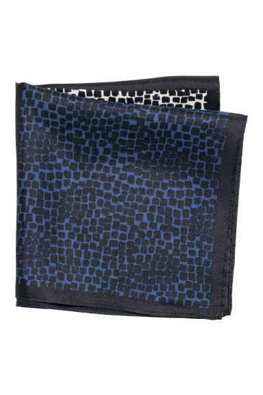 Patterned silk handkerchief - Black/Dark blue -  | H&M CN
