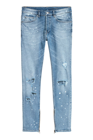 Skinny Jeans - Lichtblauw/trashed -  | H&M NL