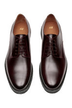 Leather Derby shoes - Burgundy - Men | H&M 2