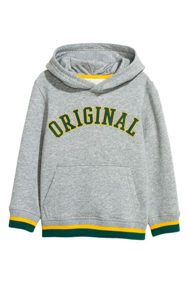 Hooded top - Grey marl/Original - Kids | H&M CN