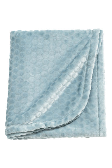 Textured fleece blanket - Turquoise -  | H&M GB