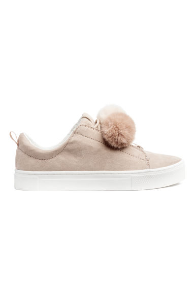 Trainers - Light beige/Pompoms -  | H&M