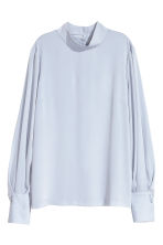 Blouse with a stand-up collar - Light blue - Ladies | H&M 1