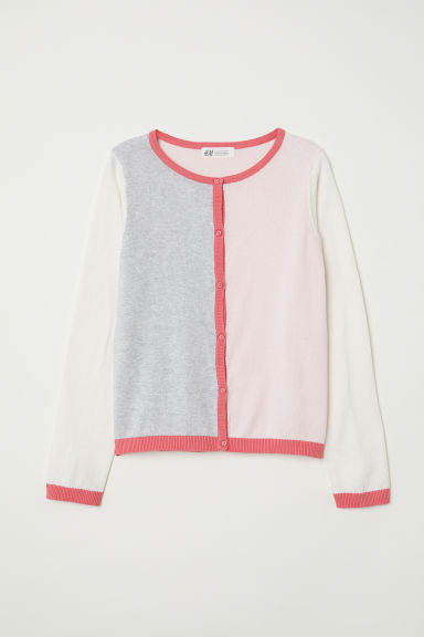 Gilet color block - Rose clair/color block -  | H&M FR