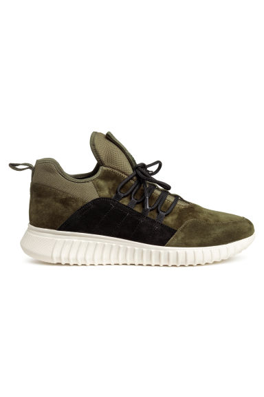 Suede trainers - Green - Men | H&M