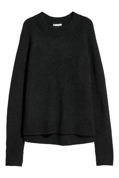 Knitted jumper - Black - Ladies | H&M