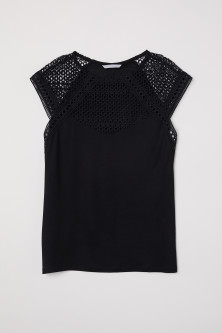 Top with a lace yoke