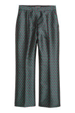 Jacquard-weave trousers - Dark purple/Green - Ladies | H&M 2