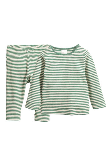 Top and leggings - Green -  | H&M