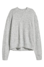 Fine-knit jumper - Light grey - Ladies | H&M 1