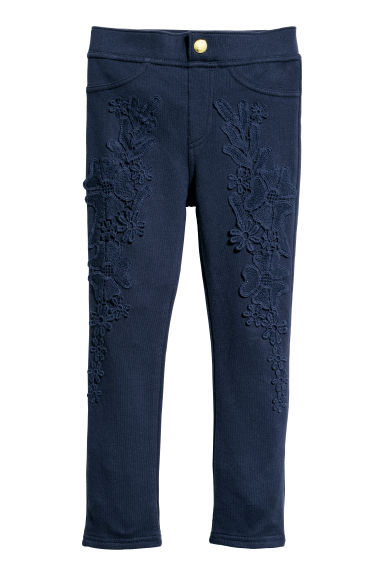 Jersey treggings - Dark blue/Lace - Kids | H&M CN 1
