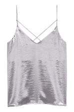 Satin strappy top - Light heather - Ladies | H&M 2