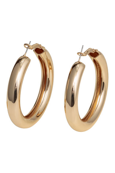 Chunky earrings - Gold-coloured - Ladies | H&M CN