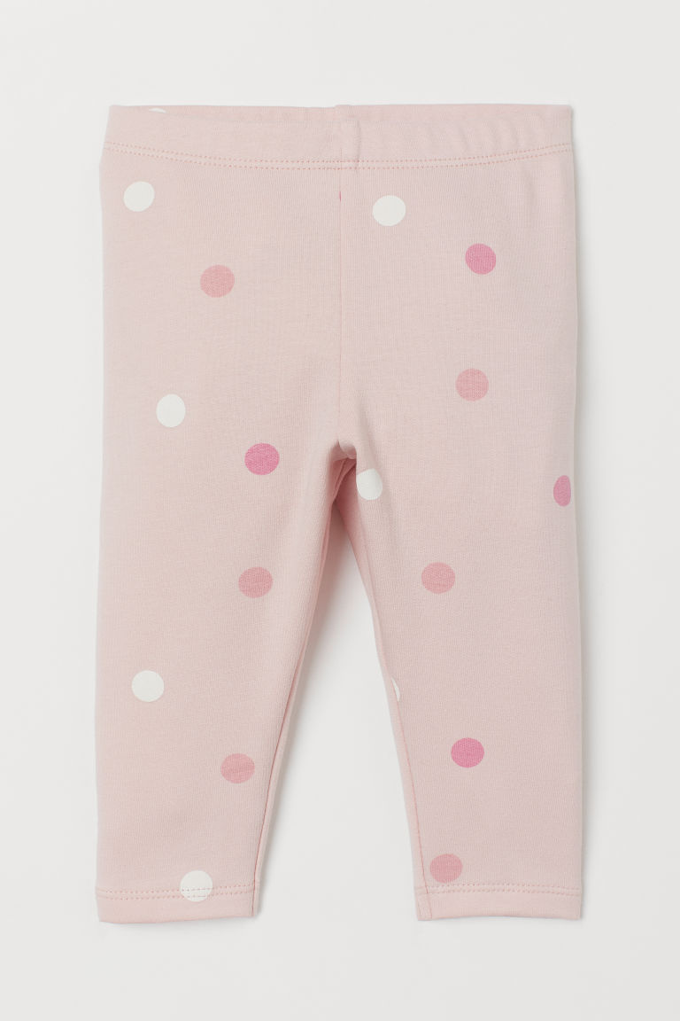 Sweatshirt leggings - Light pink/Spotted - Kids | H&M GB