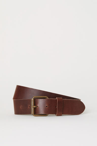 Leather belt - Cognac brown - Men | H&M CA
