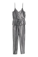 Jumpsuit with a flounce - Grey/Metallic - Ladies | H&M 2