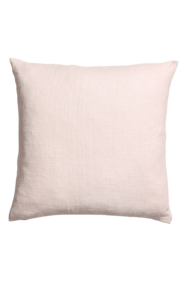 Textured-weave cushion cover - Light pink -  | H&M CN