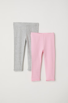 Set van 2 driekwart leggings
