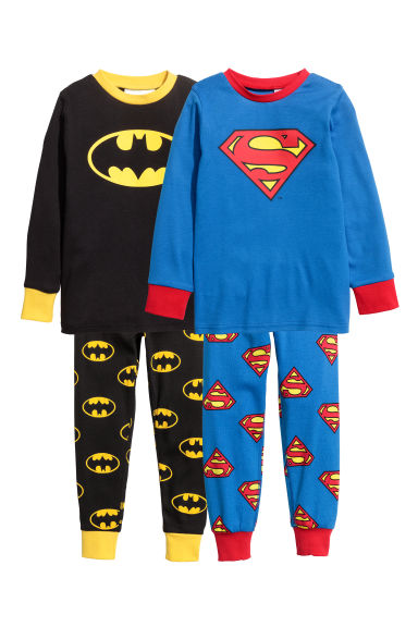 2-pack pyjamas - Blue/Superman & Batman - Kids | H&M CN