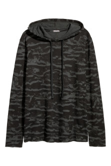 Waffled Jersey Hooded Shirt