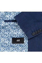 Blazer - Slim fit - Marine/dessin -  | H&M BE 4