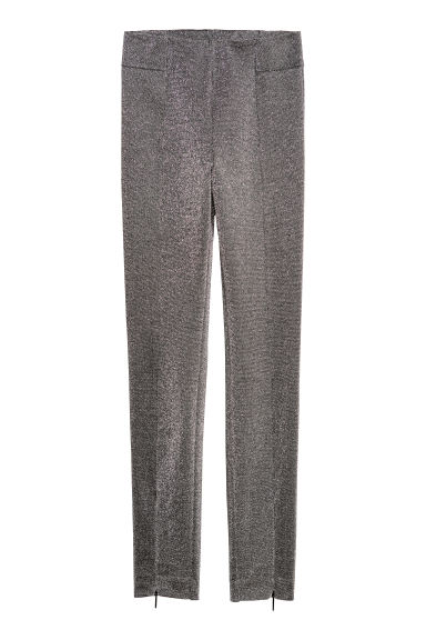 Zip-hemmed treggings - Silver-coloured - Ladies | H&M