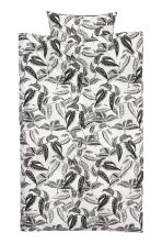 Leaf-print duvet cover set - White/Leaf-print - Home All | H&M IE 1