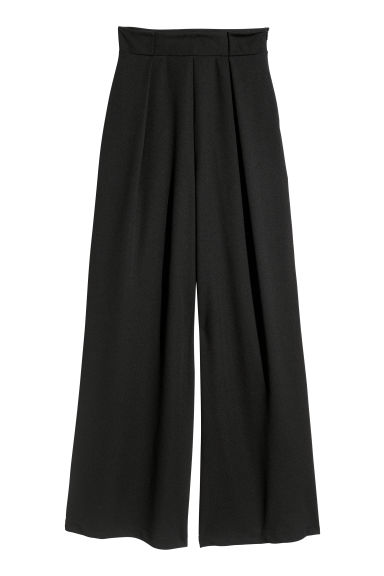 Wide trousers - Black -  | H&M GB