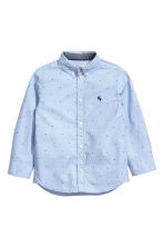 Cotton shirt - Light blue/Stars - Kids | H&M CN 2