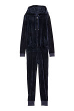 Velour jumpsuit - Dark blue - Ladies | H&M 2