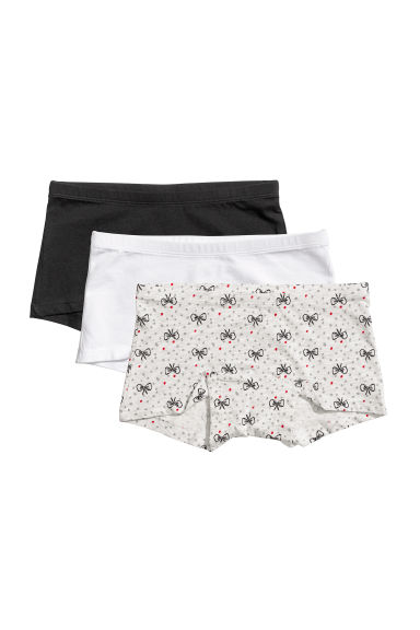 3-pack boxer briefs - Light grey/Bows - Kids | H&M CN