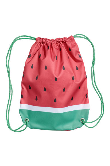 Patterned storage bag - Red/Watermelon - Home All | H&M CN