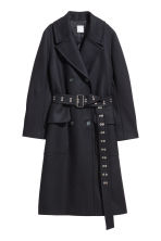 Wool-blend coat - Dark blue - Ladies | H&M IE 2