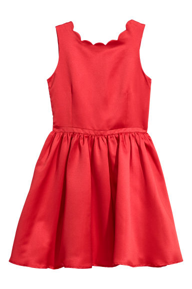 Robe en satin - Rouge - ENFANT | H&M BE
