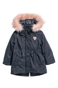 Padded parka with a hood