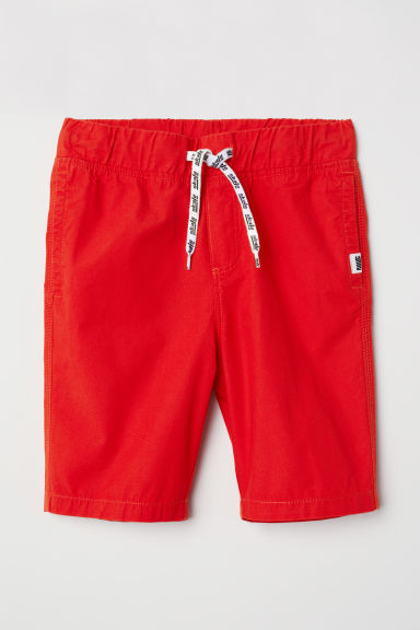 Generous Fit cotton shorts - Bright red - Kids | H&M CN