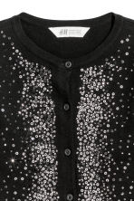 Sequined cotton cardigan - Black - Kids | H&M CN 2