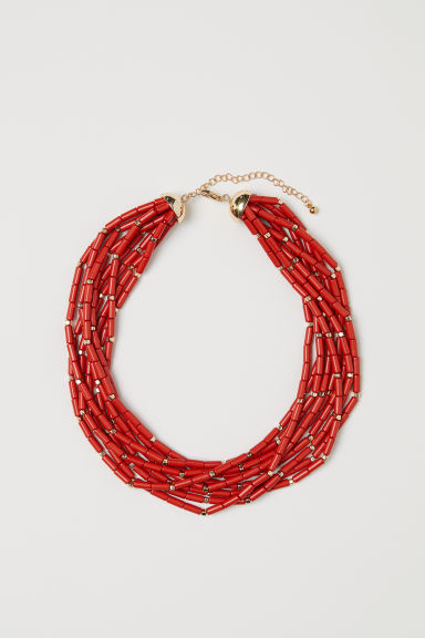 Multistring halsketting - Rood - DAMES | H&M BE