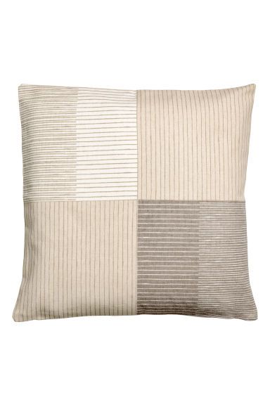 Patterned cushion cover - Light mole - Home All | H&M CN