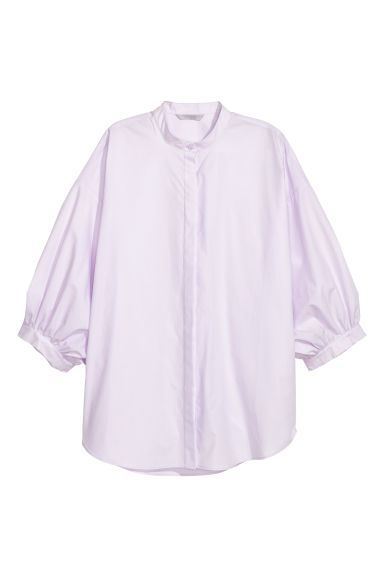 Wide blouse - Light purple - Ladies | H&M GB 1