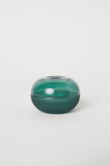 Small glass pot - Dark green -  | H&M CN