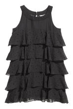 Flounced dress - Black/Stars - Kids | H&M CN 2